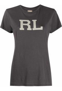 Polo Ralph Lauren Camiseta Mangas Curtas Com Estampa De Logo - Preto