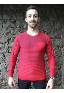 Blusa G'Dom Com Bolso Vermelha (Vermelho, M)