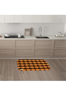 Tapete De Cozinha Mdecore Abstrato Laranja 40X60Cm
