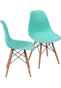 Jogo De Cadeiras Eames Dkr- Tiffany & Madeira- 2Pã§S