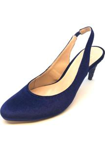 Scarpin Mentha Pimentha Azul Marinho