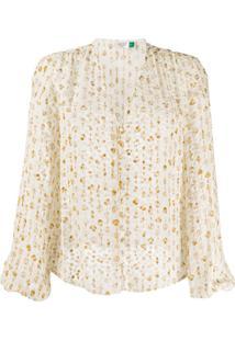 Rixo Blusa Com Padronagem - Branco