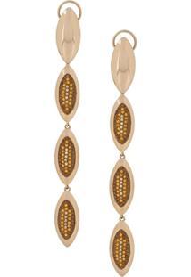 Atelier Swarovski Evil Eye Long Drop Earrings - Dourado