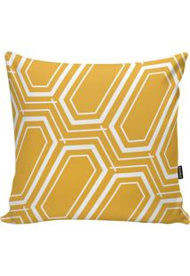 Capa De Almofada Geometric- Amarela & Branca- 45X45Cstm Home