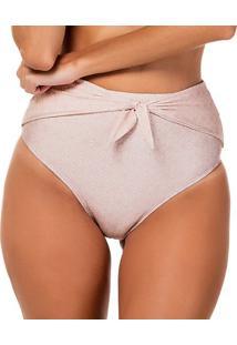 Calcinha Hot Pant Com Sobreposição - Rosê - Fleeuse Flee