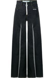 Off-White Calça Jeans Flare - Azul