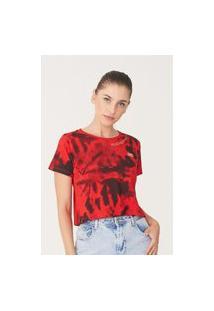 Camiseta Ecko Feminina Estampada Vermelha