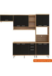 Cozinha Compacta Lobos 9 Pt 3 Gv Argila E Preto