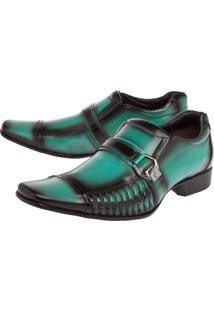 Sapato Social Rafarillo Side Gore Textura Verde
