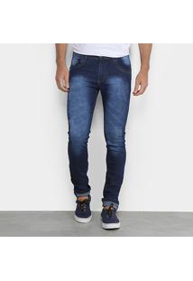 Calça Jeans Coffee Skinny Lavagem Masculina - Masculino