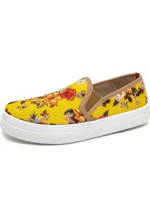 Slip Toretto Floral Amarelo - Kanui