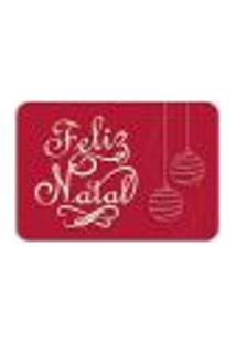 Tapete Decorativo Mdecore Feliz Natal Vermelho 40X60Cm