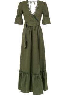 Isolda Vestido Longo 'Mia' Com Amarração - Militar