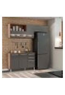 Cozinha Compacta Carménere 5 Pt 2 Gv Chumbo E Castanho