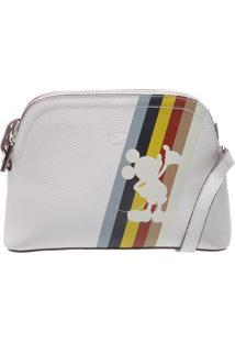 Bolsa Transversal Silhueta Mickeyâ®- Branca & Amarelaarezzo & Co.