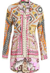 Camisa Feminina Xiemg Pink Paaj Lub - Rosa