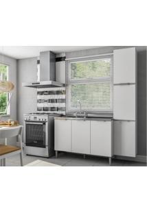 Cozinha Compacta 6 Portas Essence Branco - Aroma
