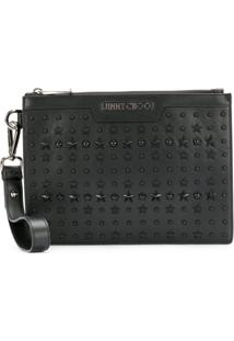 Jimmy Choo Clutch Mini 'Derek' De Couro - Preto