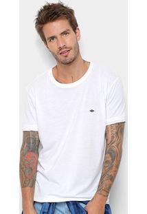 Camiseta Triton Detalhe Estampado Básica Masculina - Masculino-Branco