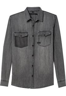 Camisa Zane (Jeans Black Medio, Gg)