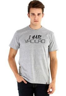 Camiseta Ouroboros Manga Curta I Hate Vacilo - Masculino-Cinza