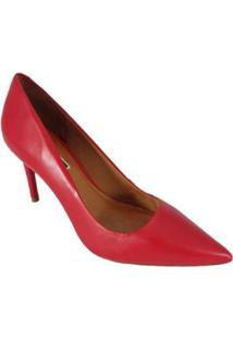 Scarpin Salto Alto Sapatoweb Couro - Feminino-Vermelho