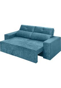 Sofá 3 Lugares Retrátil E Reclinável Sevilha-Ambiente Móveis - Azul