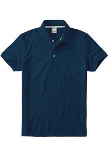 Camisa Polo Slim Piquê Rajado Malwee