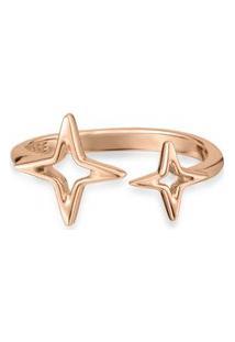 Anel Life Banho Ouro Rosé Star Duplo By Vivara