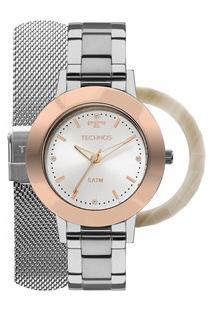 Kit Relógio Feminino Strass Technos 2035Mlkt1K