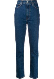 Helmut Lang Calça Jeans Slim Cintura Alta - Azul