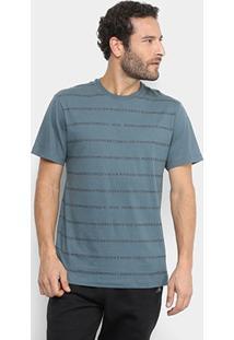 Camiseta Mcd Estampada Masculina - Masculino-Azul Petróleo
