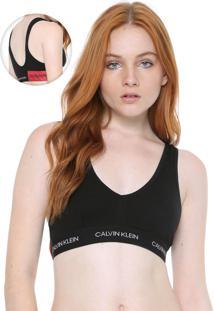 Top Calvin Klein Underwear Statement Patch Preto