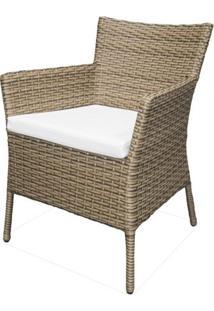 Cadeira Rivera Estrutura Aluminio Revestida Em Fibra Sintetica Cor Madeira - 44550 - Sun House