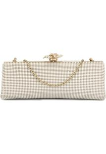 Whiting And Davis Clutch Com Tachas - Branco