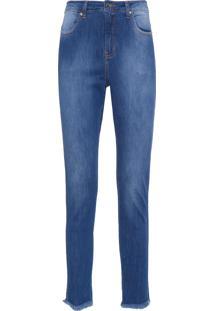 Calça Feminina Villa Pisani Jeans - Azul Marinho