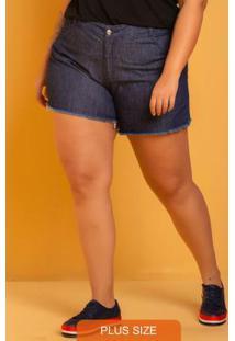 Shorts Jeans Desfiado Azul