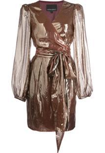 Cynthia Rowley Vestido Envelope Rocky - Dourado