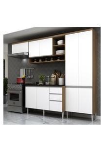 Cozinha Completa Multimóveis Suíça 5195Ml - Com Balcáo 10 Portas 2 Gavetas