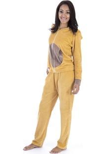Pijama Longo Inspirate Ursa Plush - Feminino