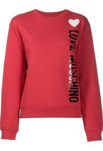 Love Moschino Suéter Com Estampa De Logo - Vermelho