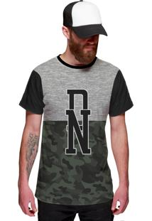 Camiseta Di Nuevo Militar Verde Exército Swag Preta