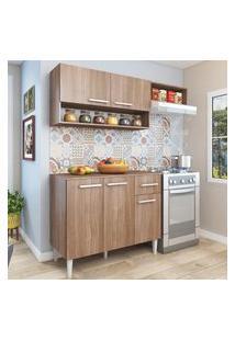 Cozinha Modulada Com Tampo Fellicci Móveis Madri 5 Portas