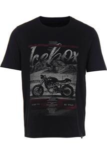 Camiseta Masculina Icebox - Preto