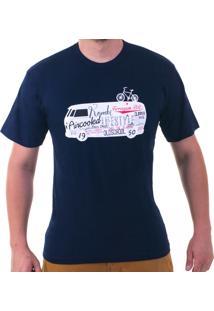 Camiseta Ferrugem Br Kombi Definitions Azul-Marinho