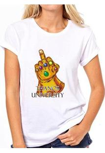 Camiseta Thanos University Feminina - Feminino-Branco