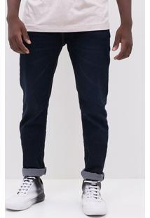 Calça Resinada Em Jeans
