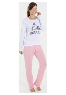 Pijama Feminino Estampado Manga Longa Marisa