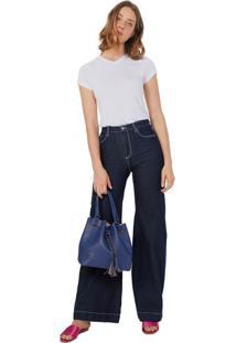30809d1638 ... Calça Jeans Wide Linha Contraste