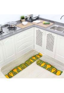 Kit Tapete De Cozinha Anabela
